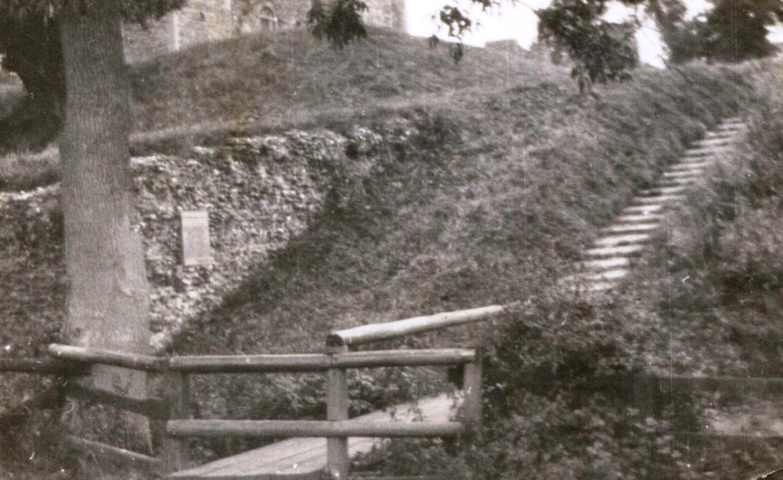 Steps leading from the meres