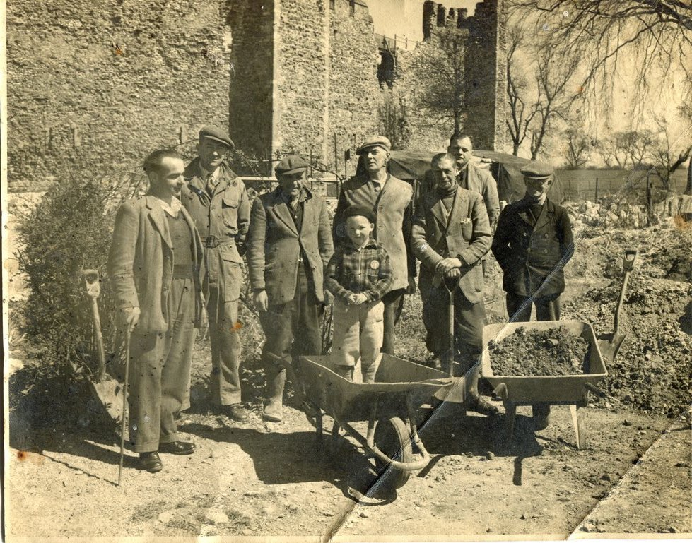 Castle workmen