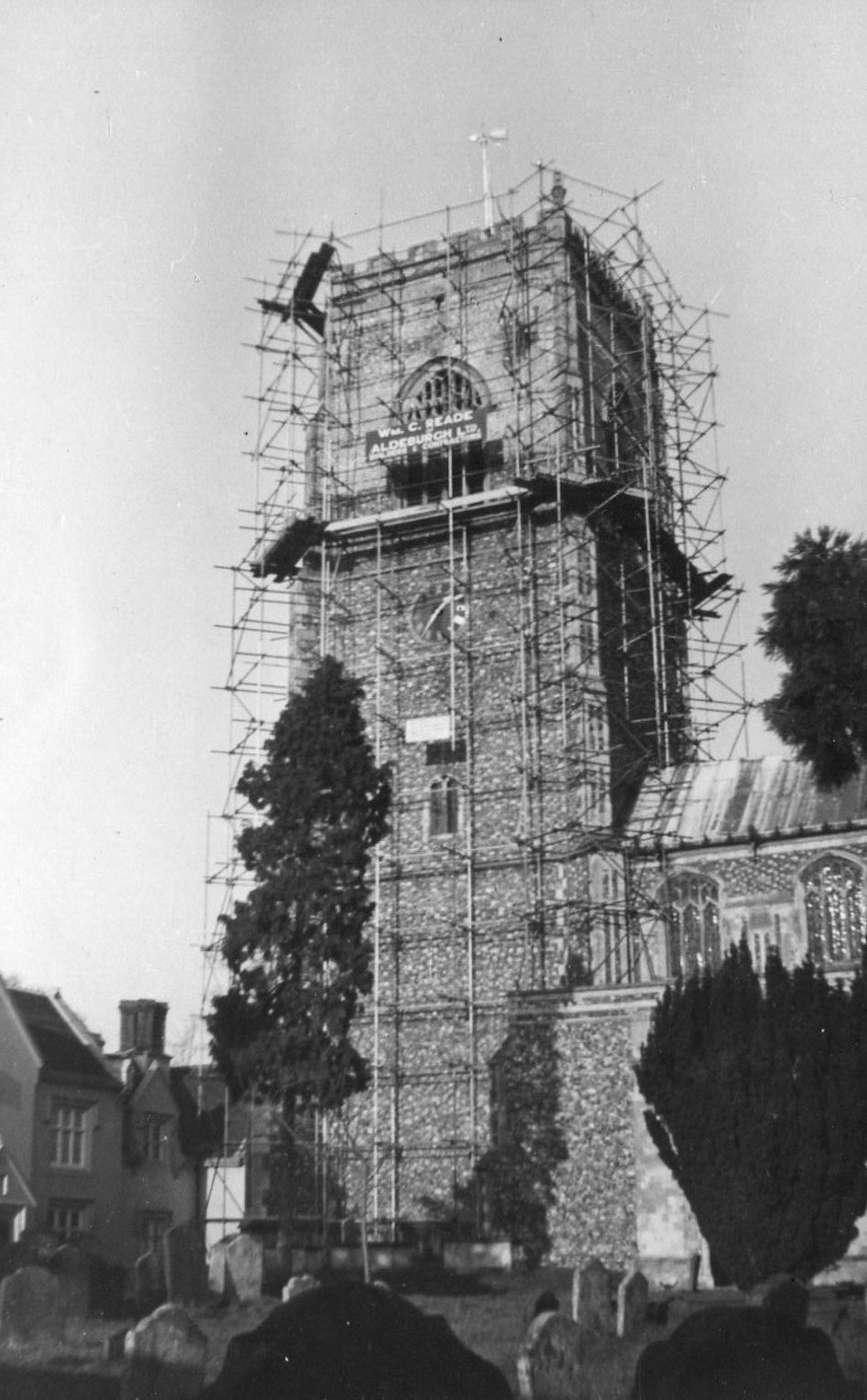 Church restoration, c.1952