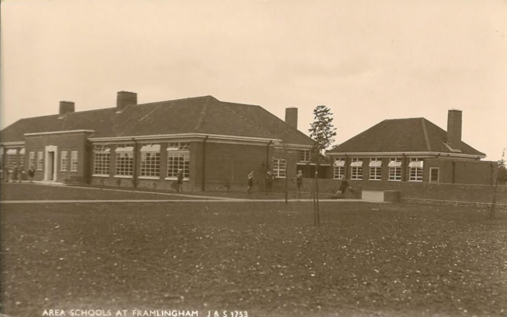 Area School, Saxtead Road c 1938