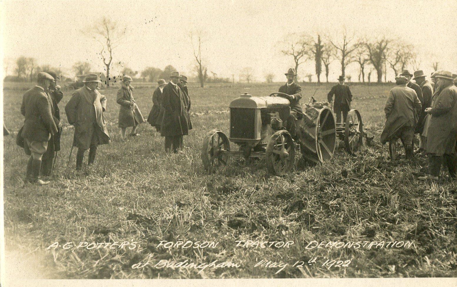 Potter's Tractor Demo, Badingham 1922