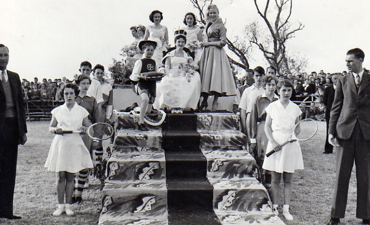 Crowning Of 1956 Gala Quenn