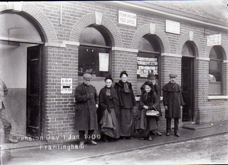 Old Age Pensioners, Post Office, Riverside