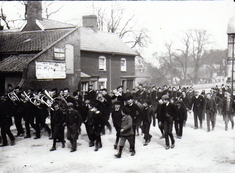 Band Marching Through Well Close Square