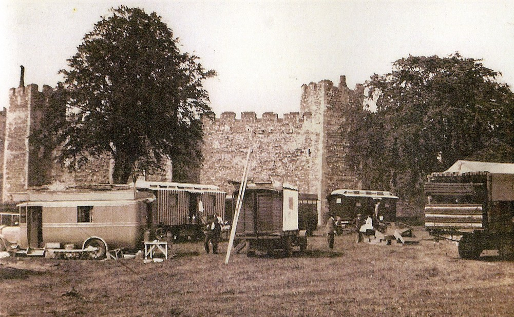 Castle Meadow with Fair vehicles
