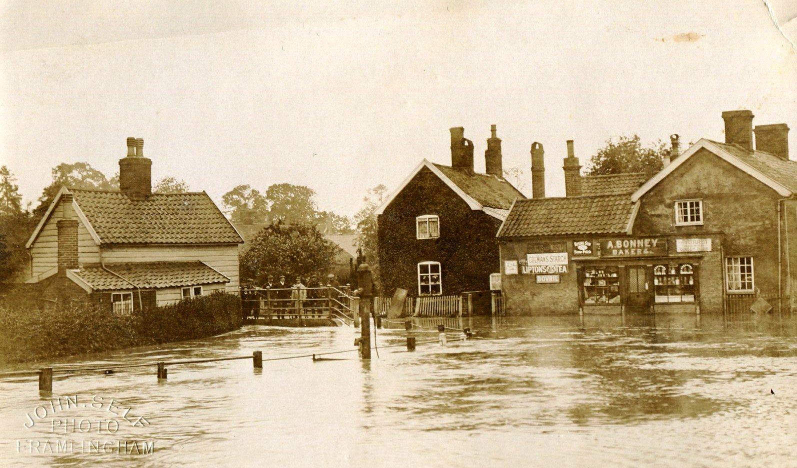 Albert Place in flood