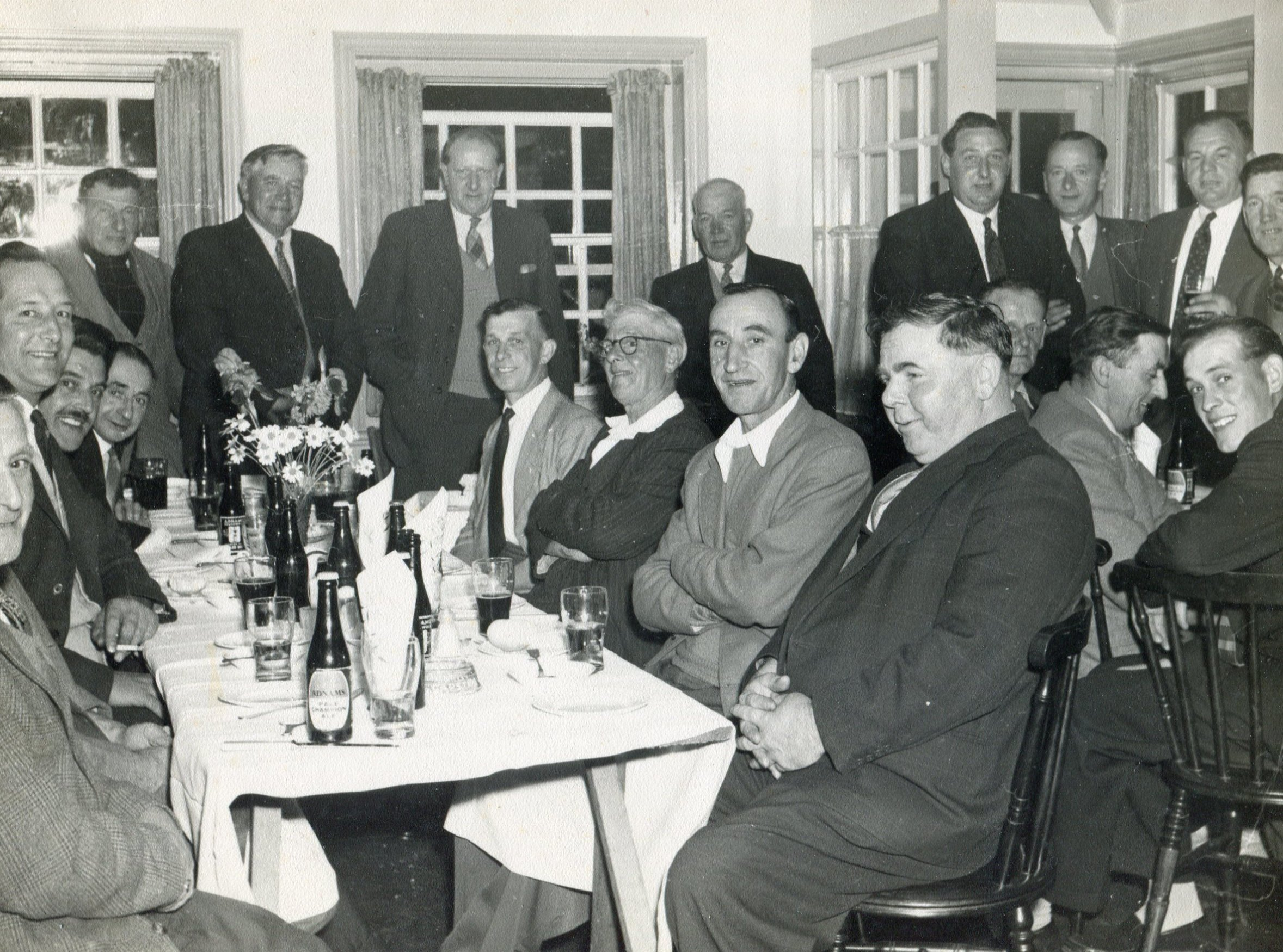 Railway inn dinner, c.1956