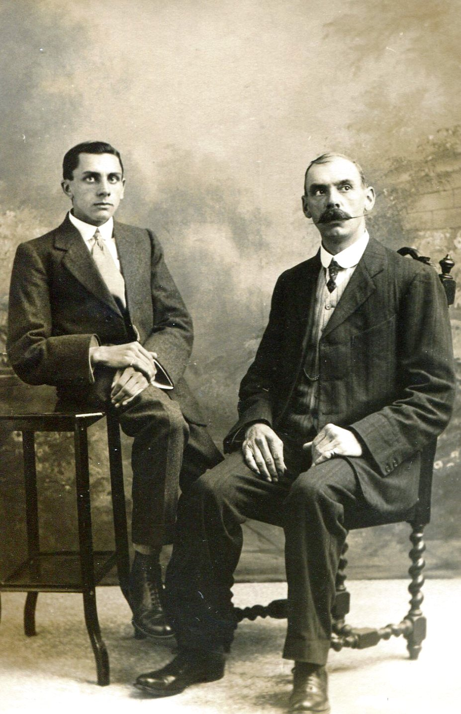 Percy Fiske and his father Herbert