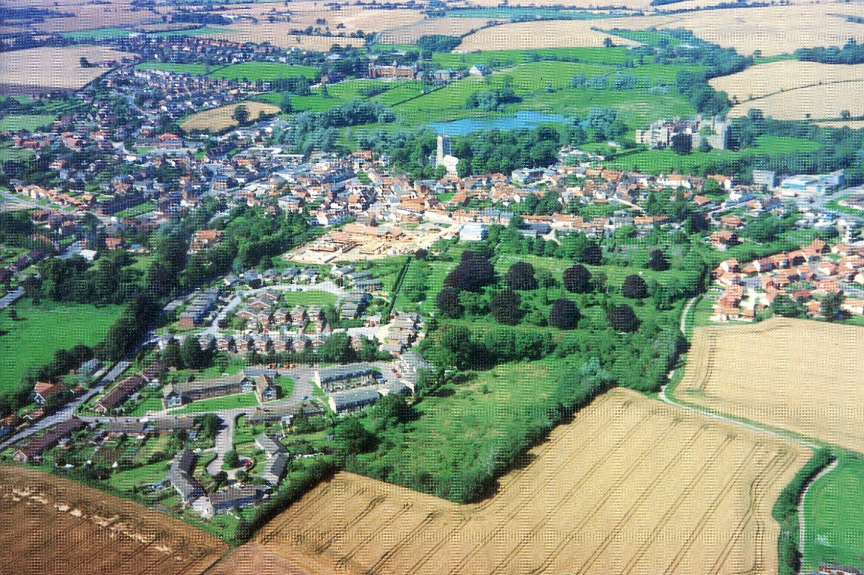 Aerial view of Framlingham