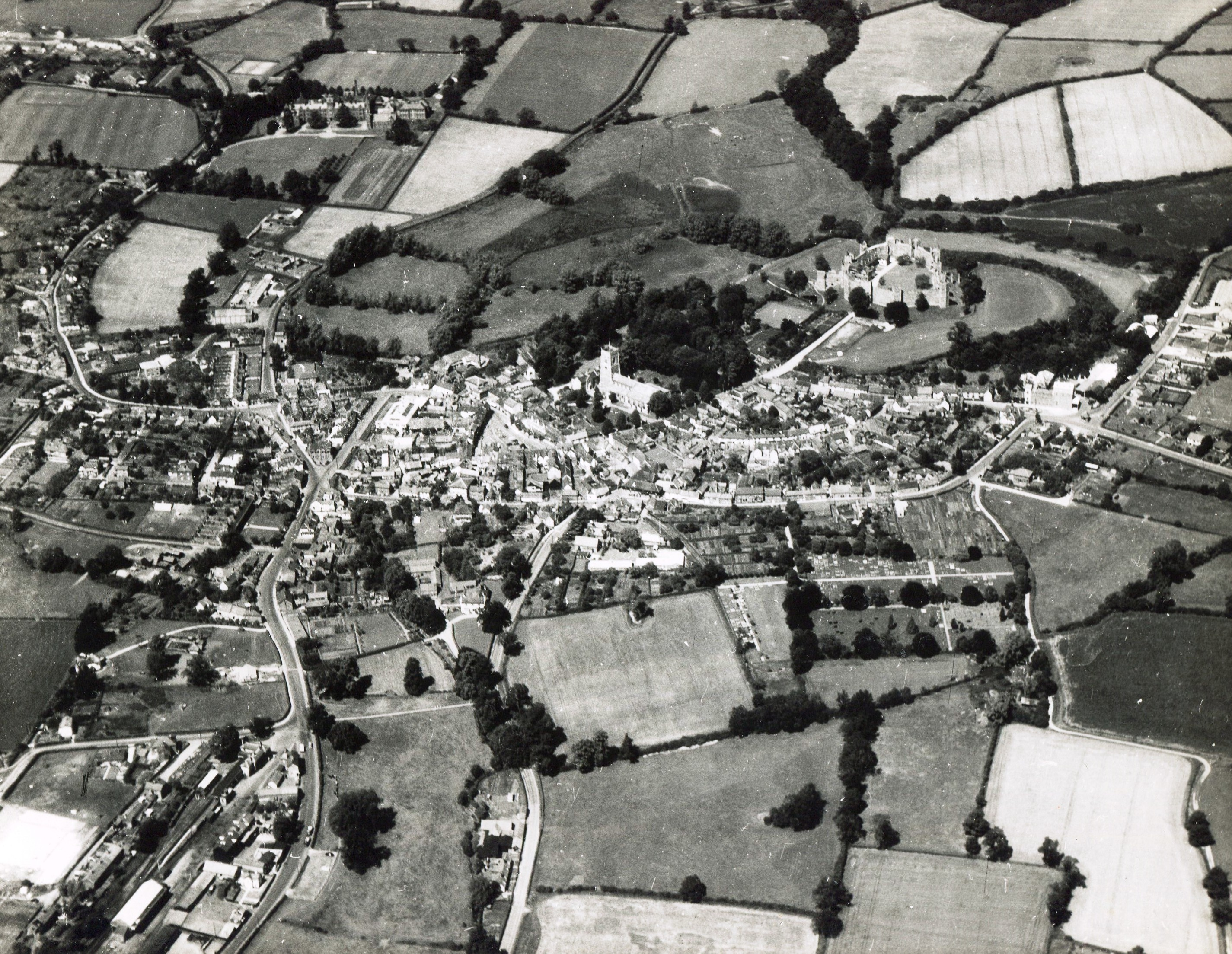 Town view, possibly late 1950s