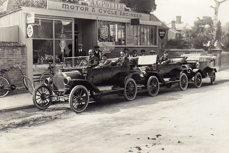 Potter's Cycle Shop, Station Road, c.1914