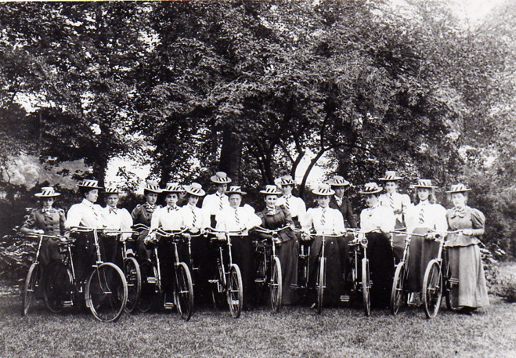 Ladies Cycle Club, late 1890s