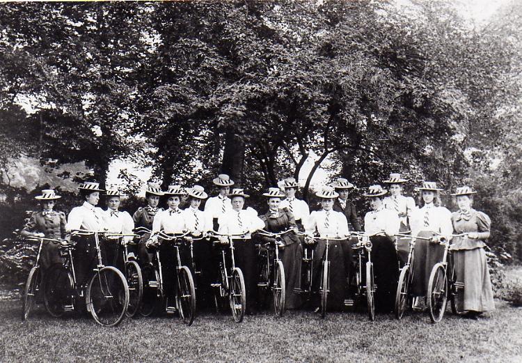 Ladies Cycle Club, late 1890s