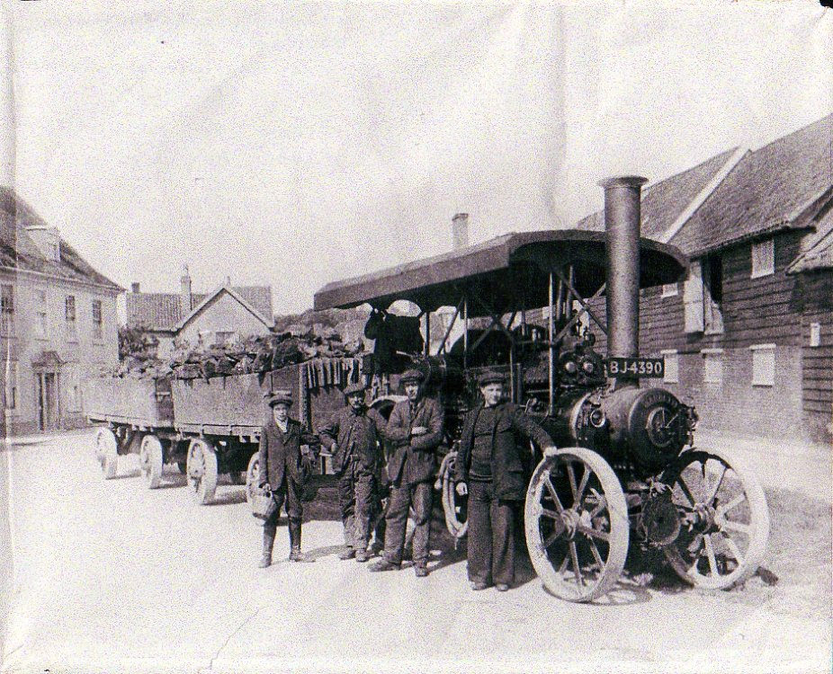Garrett Steam Tractor, The Haynings, c.1922
