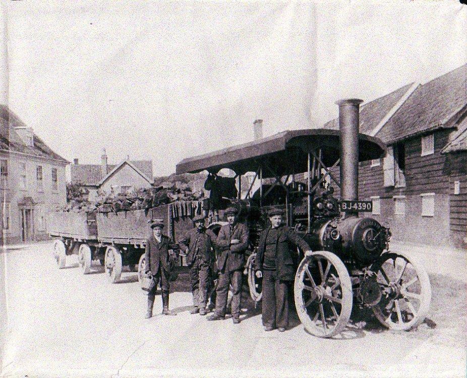Garrett Steam Tractor, The Haynings, c.1922