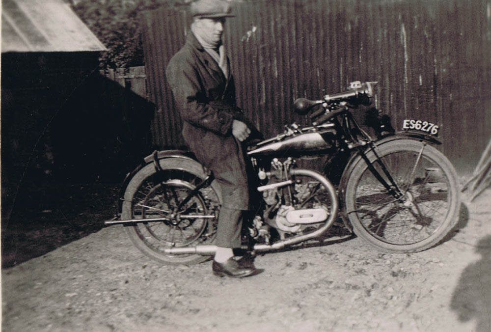 Sam Bloomfield And Motorcycle