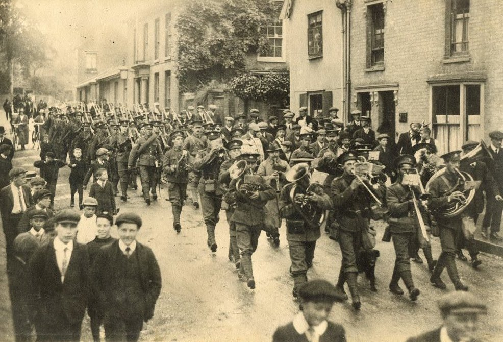 Territorials marching in Church Street