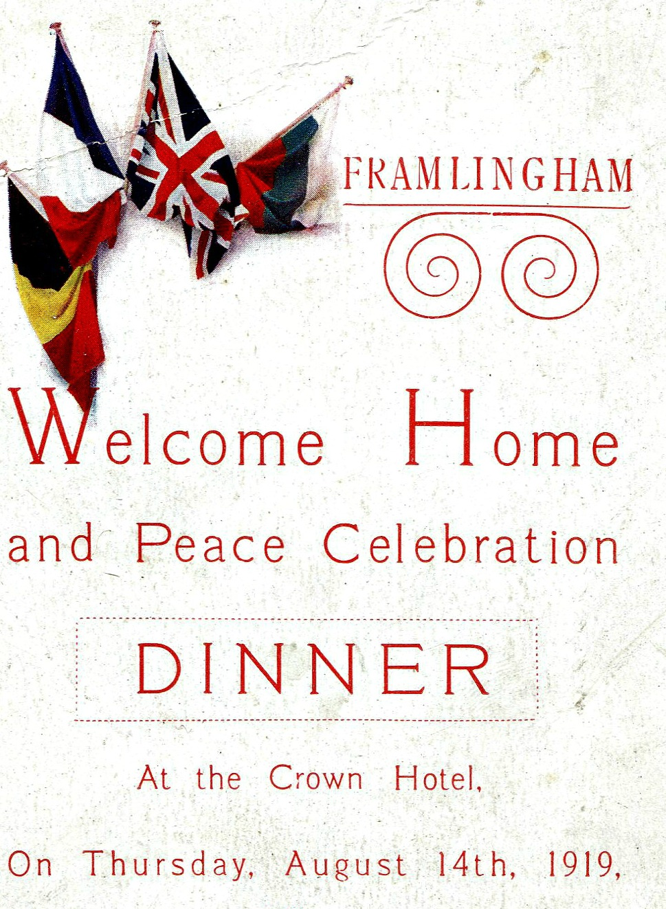 Welcome Home and Peace celebration, August 14th, 1919