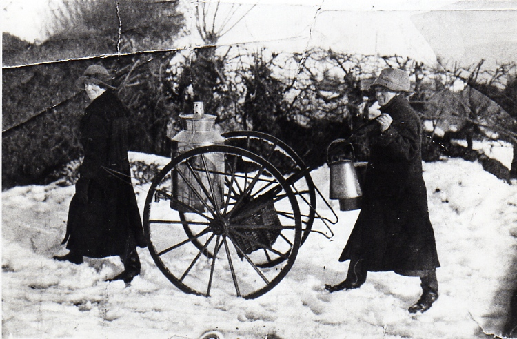 Milk Delivery In The Snow