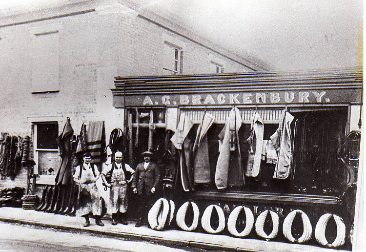 Brackenbury's Saddlery Shop, Well Close Square.