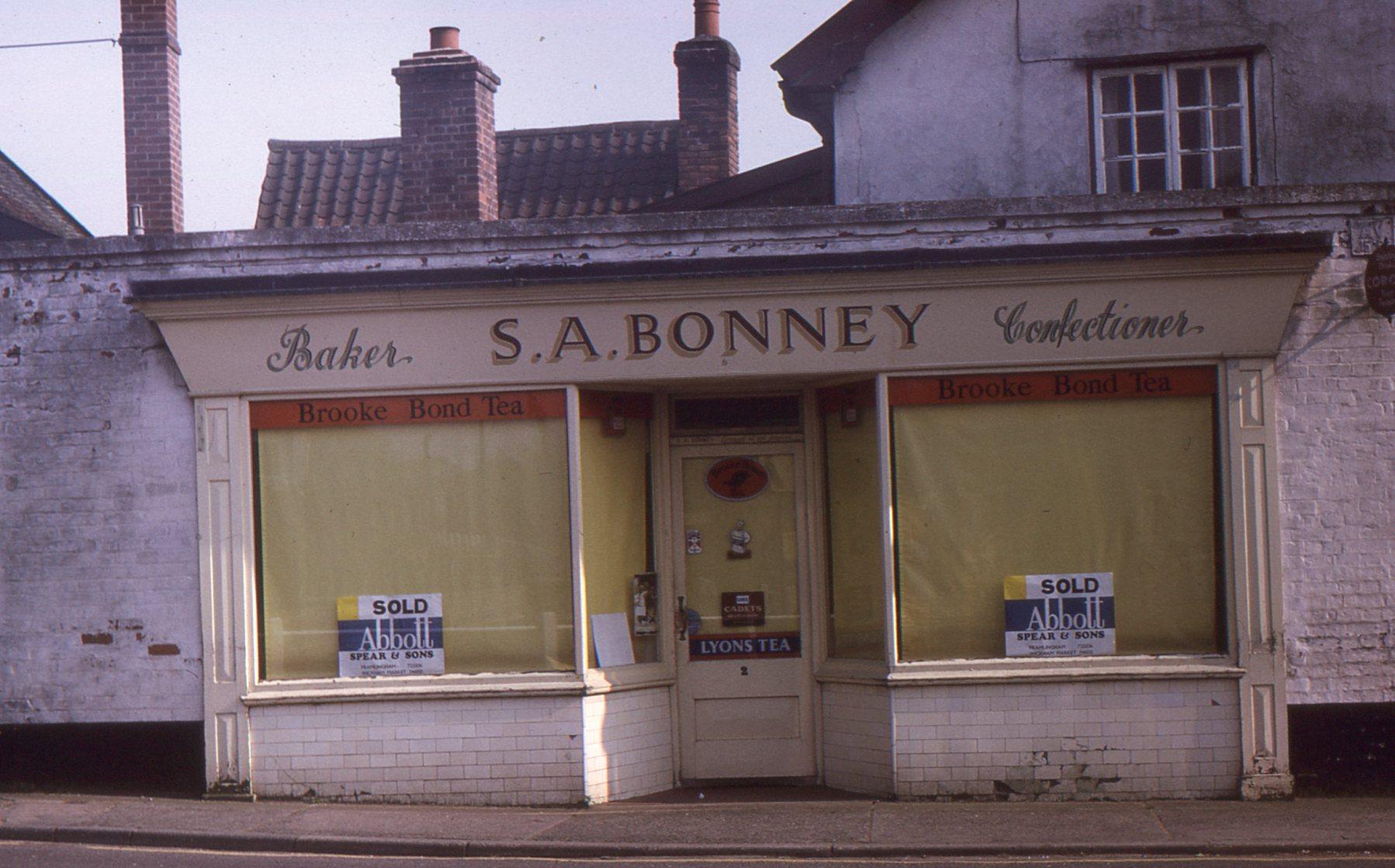 Bonney's shop,1975