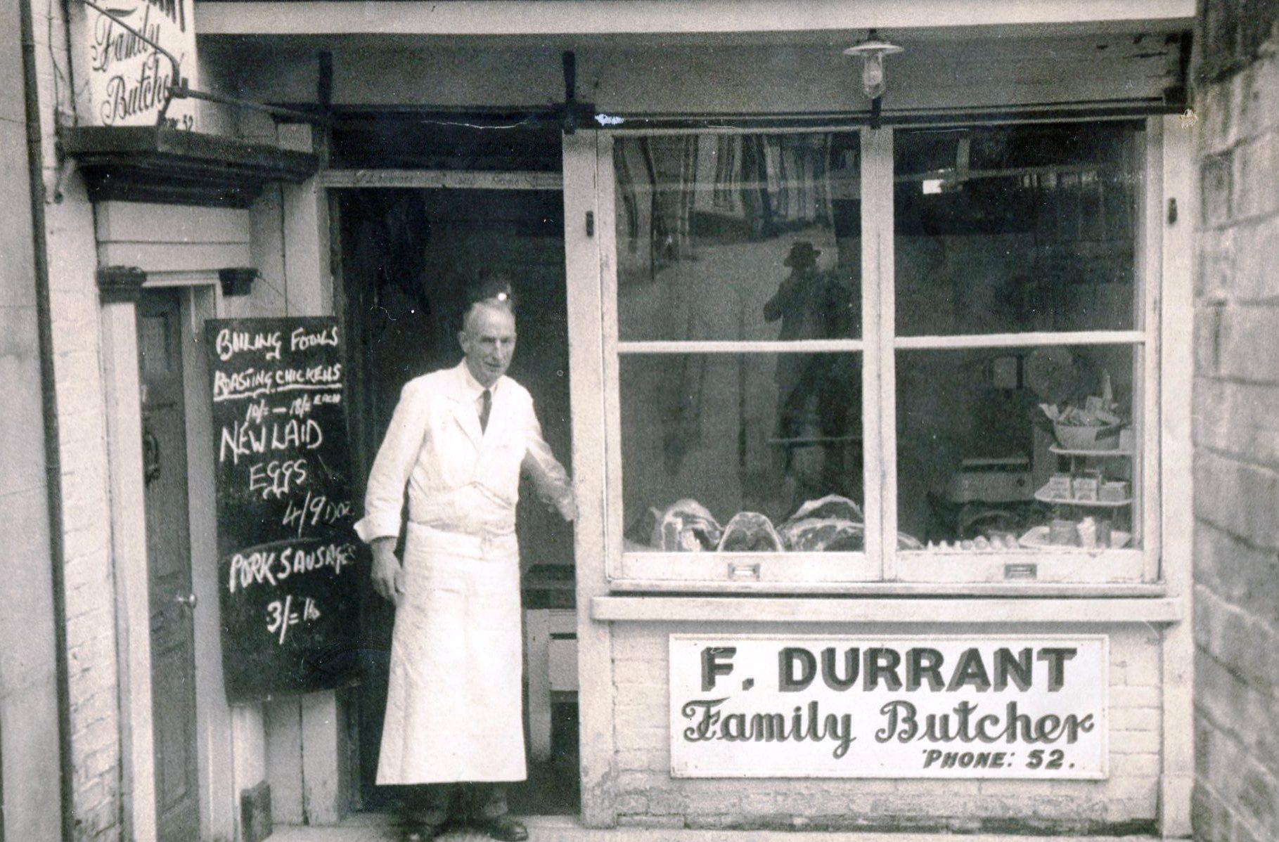Durrant butcher, Market Hill