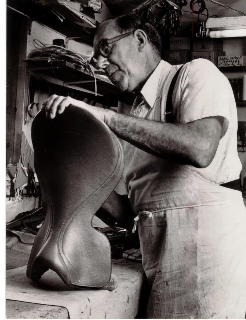 Ken Howard working on saddle