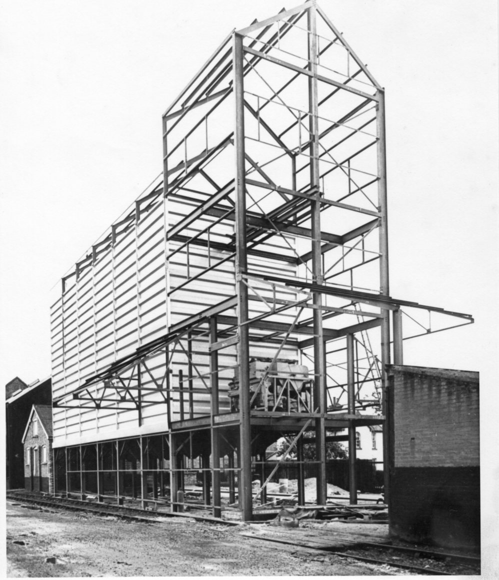 Station Road Silos_under_construction, 1964